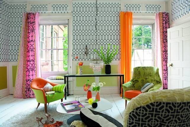 Moderní bytový textil v růžových a oranžových tónech