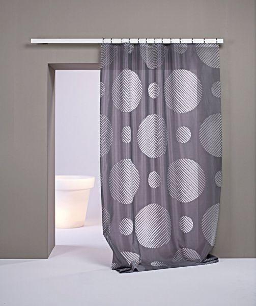 Moderní bytový textil v šedé barvě s bílým vzorem