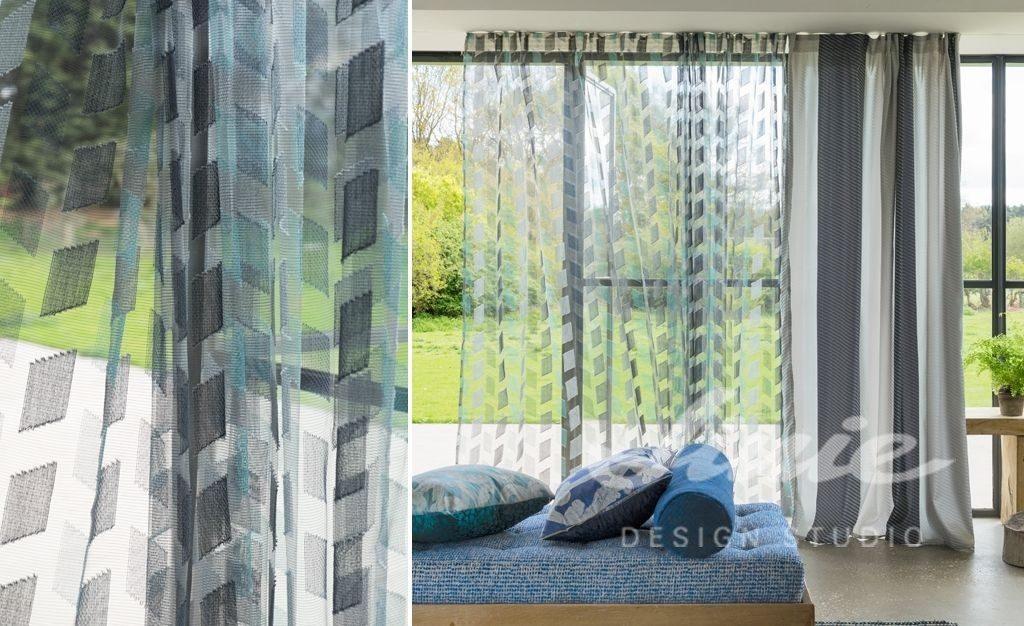 Moderní bytový textil průsvitný se vzorem