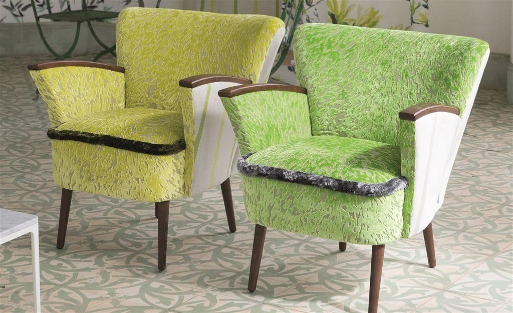 Moderní bytový textil v odstínech zelené a žluté