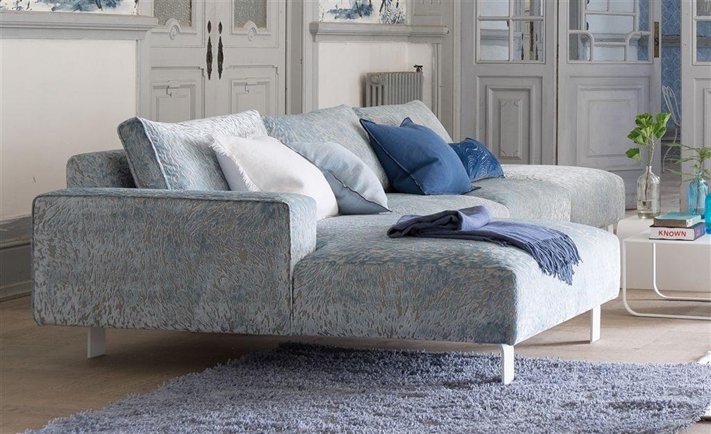 Bytový textil v odstínech modré