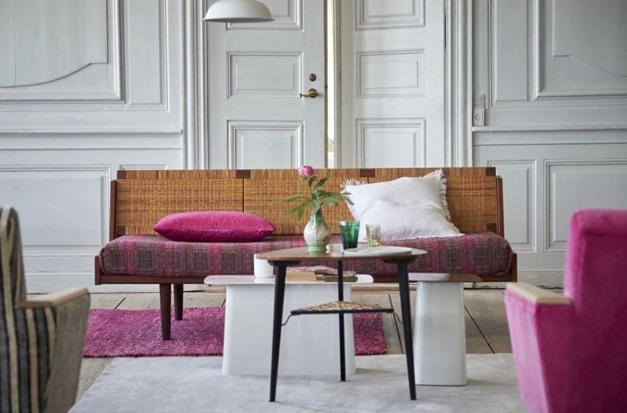 Moderní bytový textil v růžových tónech