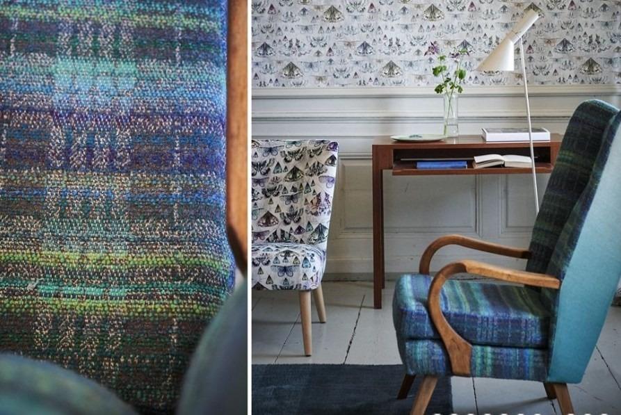 Moderní bytový textil laděný do zeleno modrých tónů