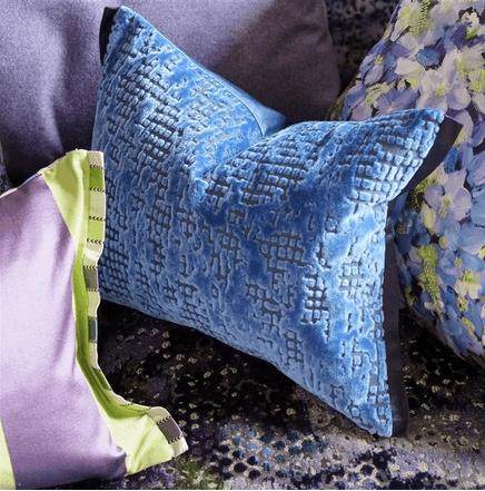 Moderní bytový textil v jemně modrých odstínech
