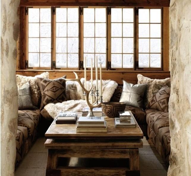 Moderní bytový textil v hnědých odstínech