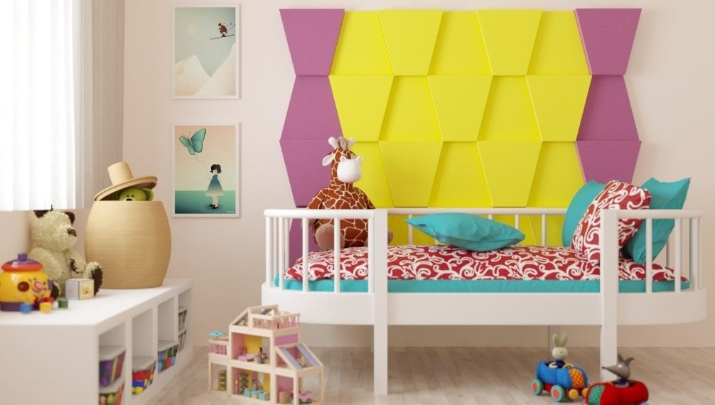 akustické pěnové obklady na zeď barevné