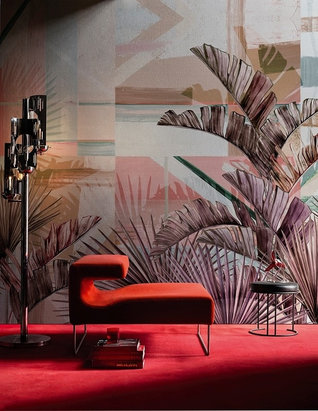 Fototapeta s barevným tropickým vzorem