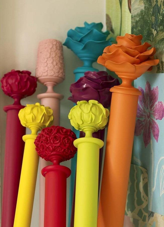 Barevné garnýže ve tvaru květů 2