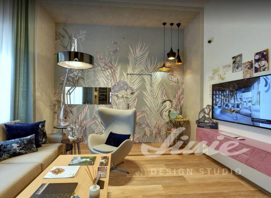 Linie designové studio interiér ukázka
