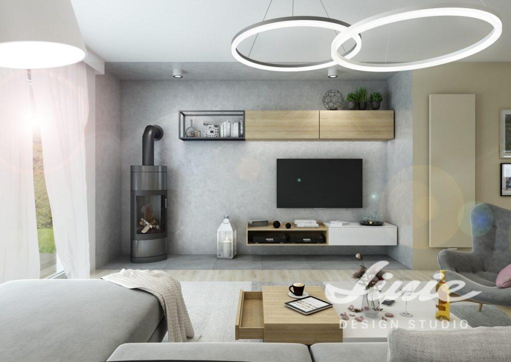 Kruhová stropní svítidla do obývacího pokoje