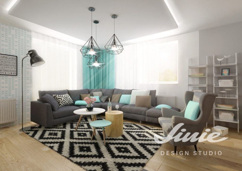 Moderní industriální stropní svítidlo do obývacího pokoje