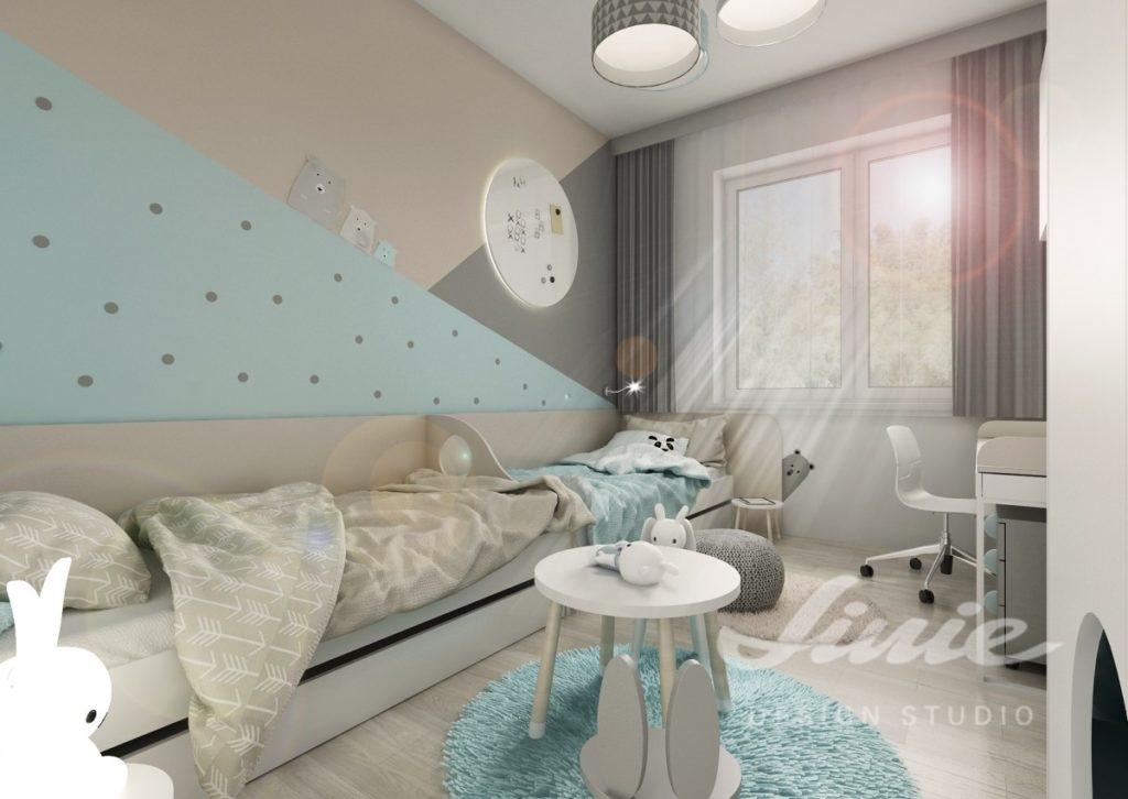 Dětský pokoj zařízený v moderním stylu