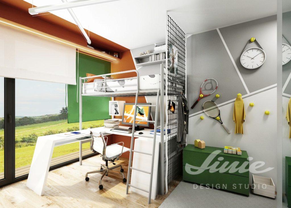 Chlapecký pokoj se sportovními dekoracemi