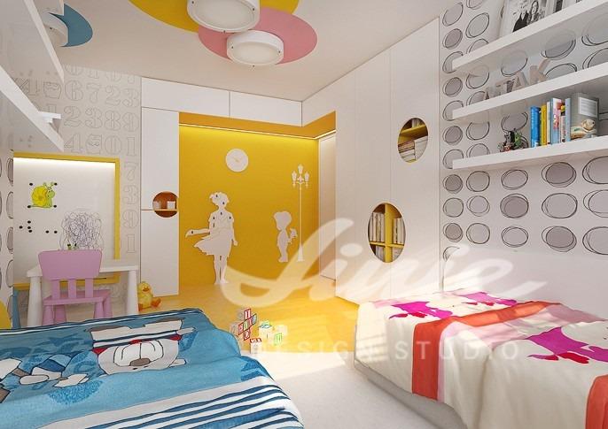 Dětský pokoj pro dívku a chlapce