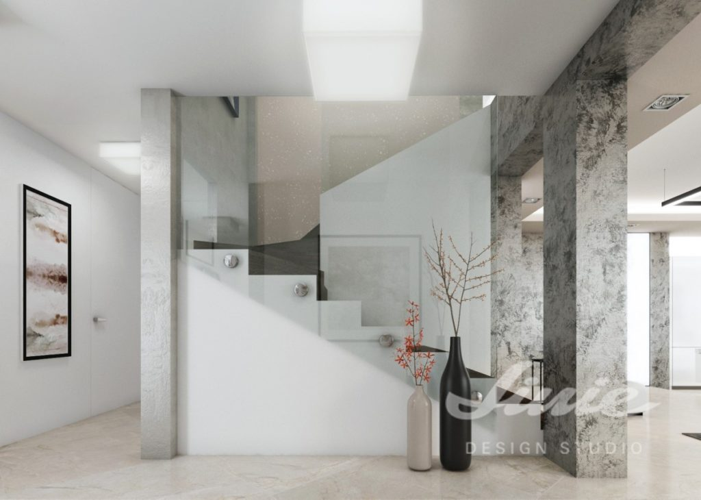 Moderní hala v minimalistickém designu