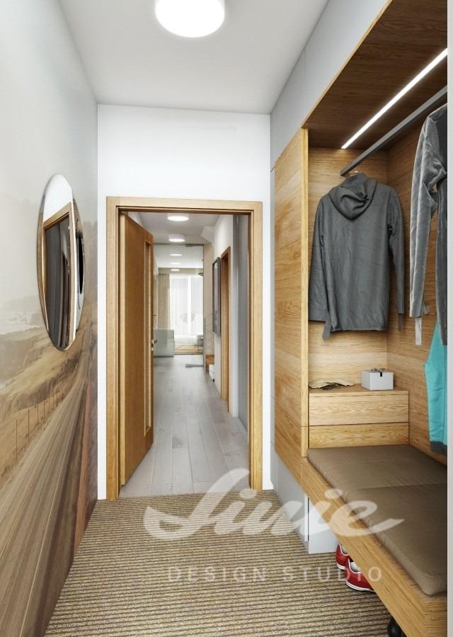 Moderní hala s šatní skříní