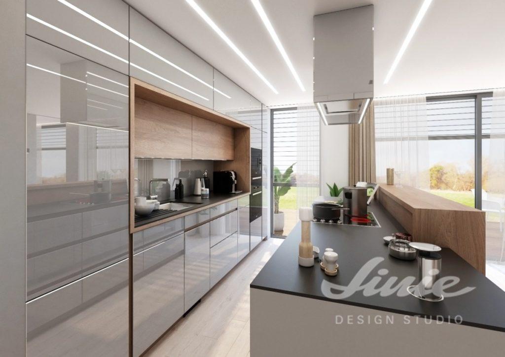 Inspirace pro kuchyně se šedými úložnými prostorami