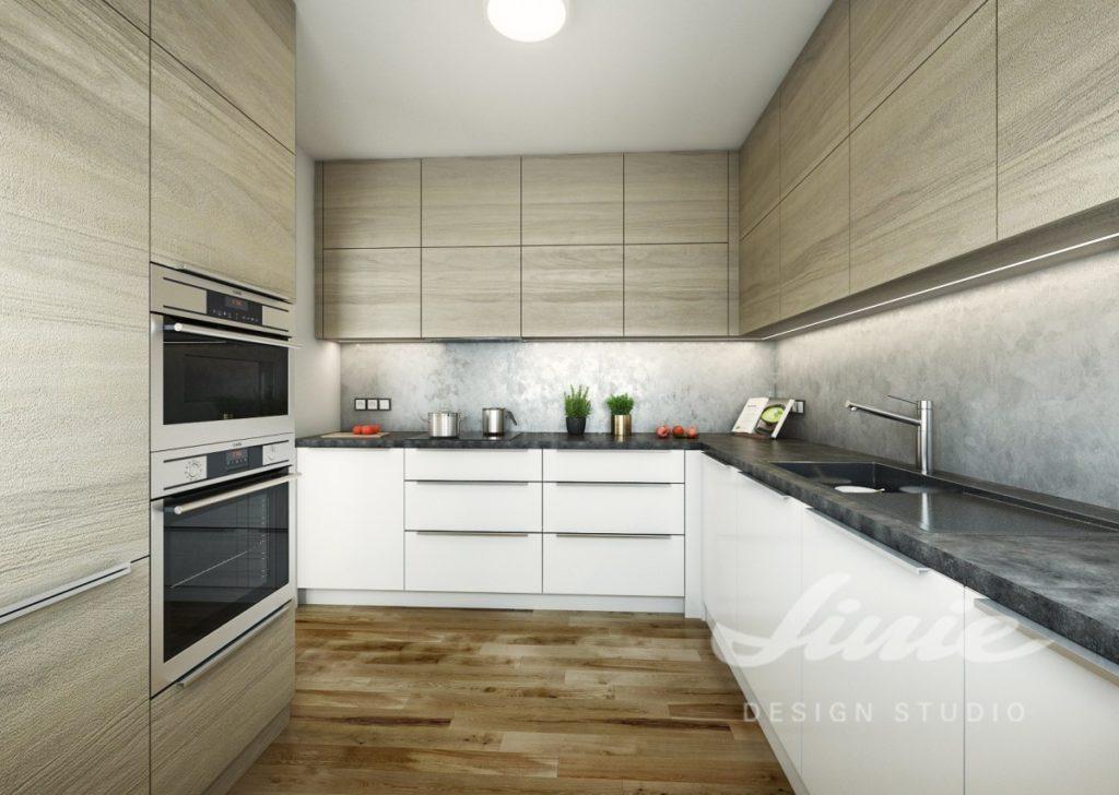 Inspirace pro kuchyně v moderním světlém designu