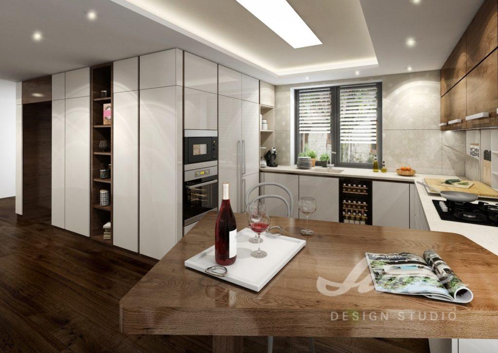 Inspirace pro kuchyně s bílými úložnými prostory
