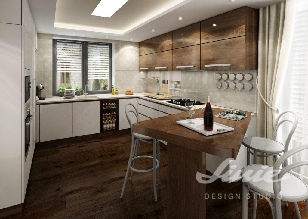 Inspirace pro kuchyně se skříňkami z tmavého dřeva