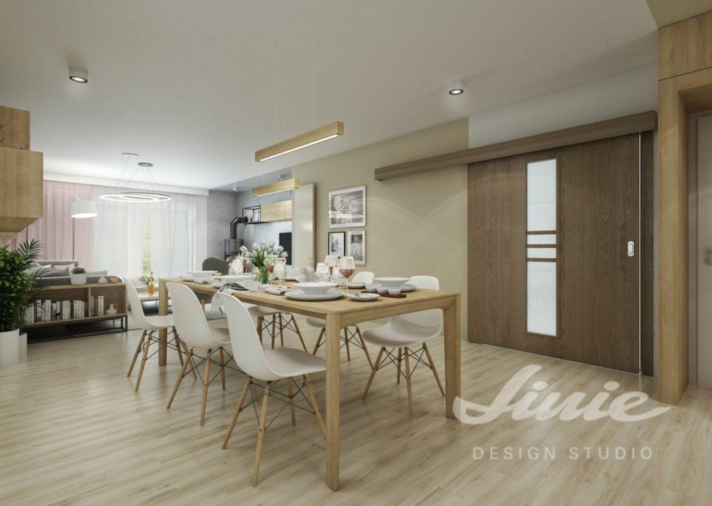 Inspirace pro kuchyně s moderním béžovým interiérem