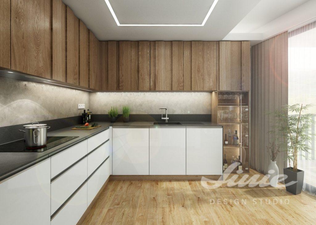 Inspirace pro kuchyně v moderním světlém provedení