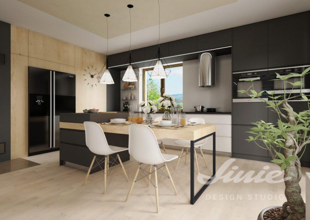 Inspirace pro kuchyně s moderním tmavým designem