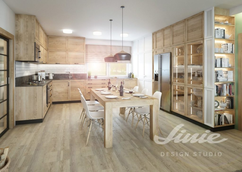 Inspirace pro kuchyně s nábytkem z přírodního dřeva