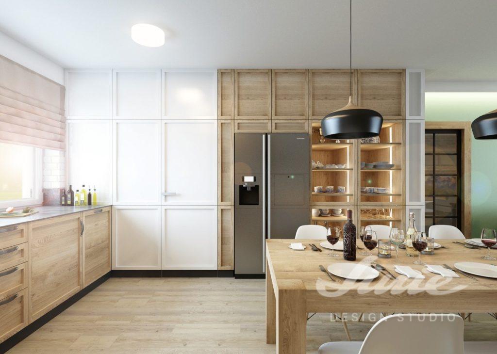 Inspirace pro kuchyně s přírodním dřevem