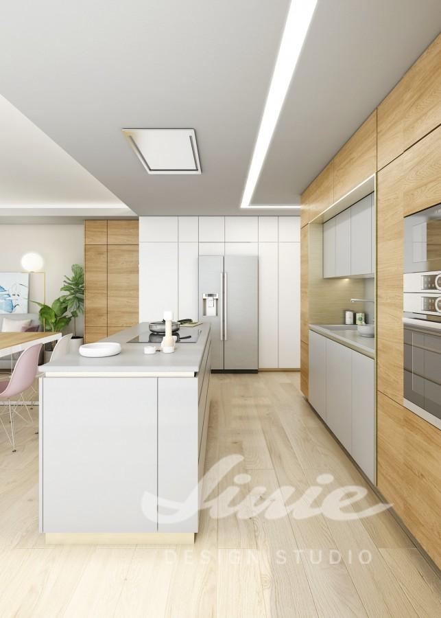 Inspirace pro kuchyně s dřevěnými úložnými prostorami