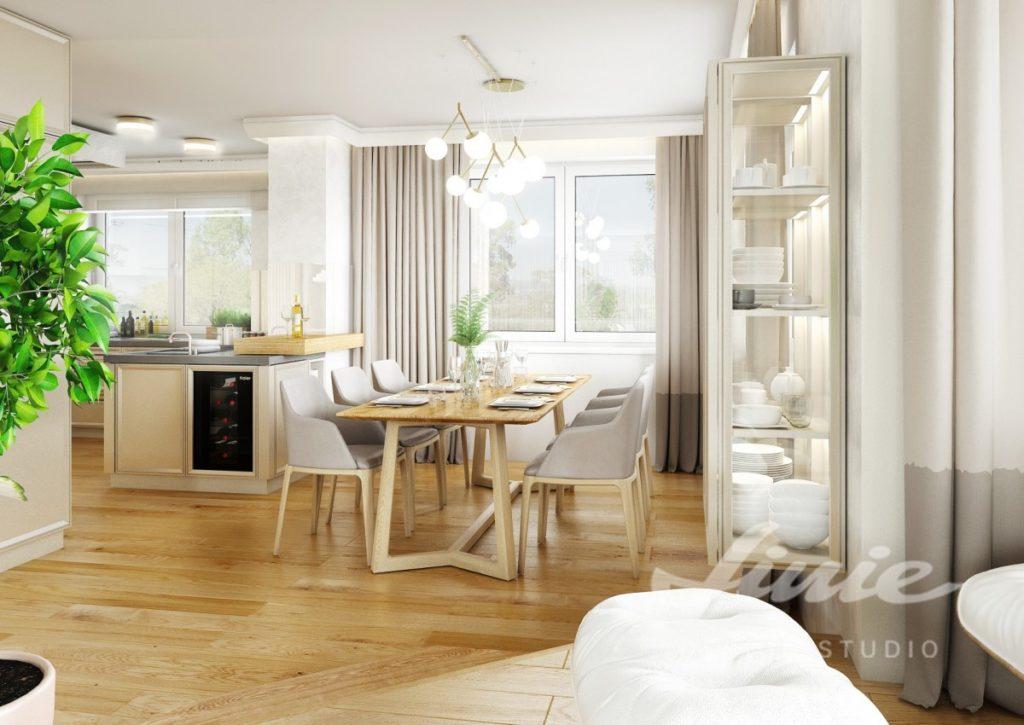 Inspirace pro kuchyně s interiérem ve světlém dřevě s béžovým textilem