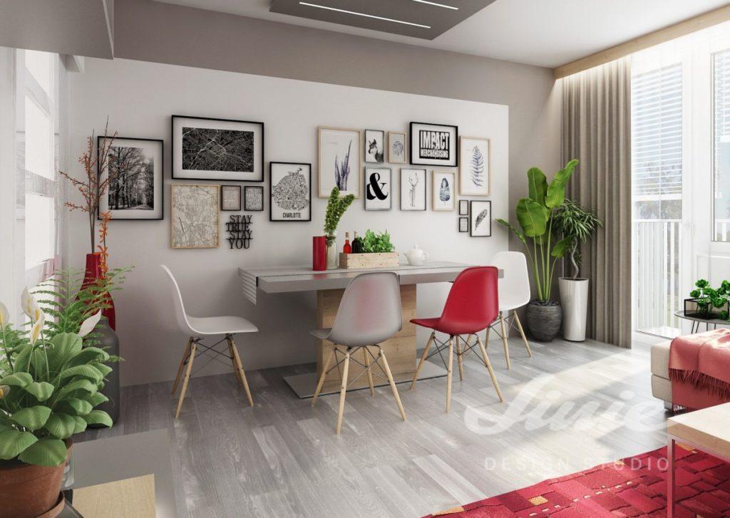 Inspirace pro kuchyně s interiérovými prvky červené barvy