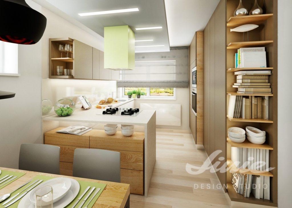 Inspirace pro kuchyně s detaily ve světle zelených tónech