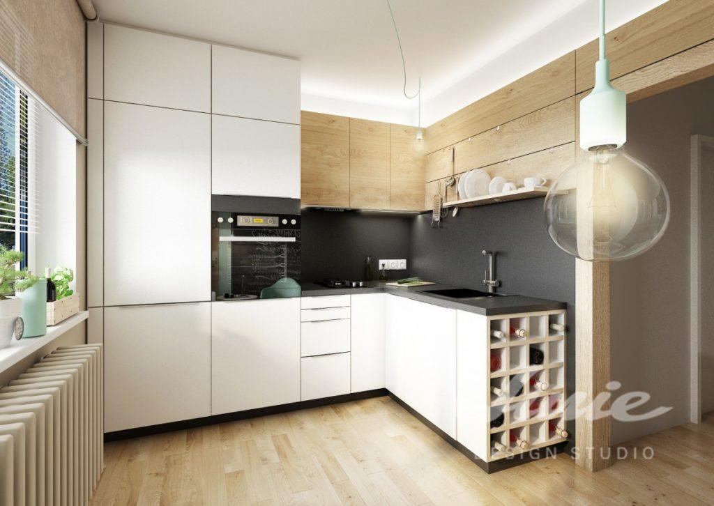 Inspirace pro kuchyně s úložnými prostorami v bílé barvě