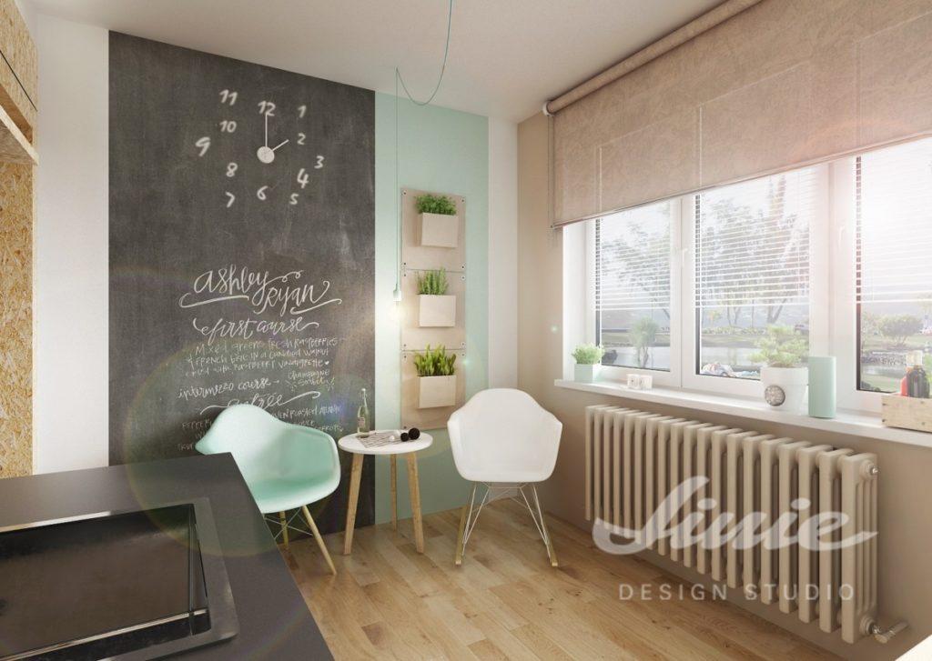 Inspirace pro kuchyně s prvky v pudrové a tyrkysové barvě