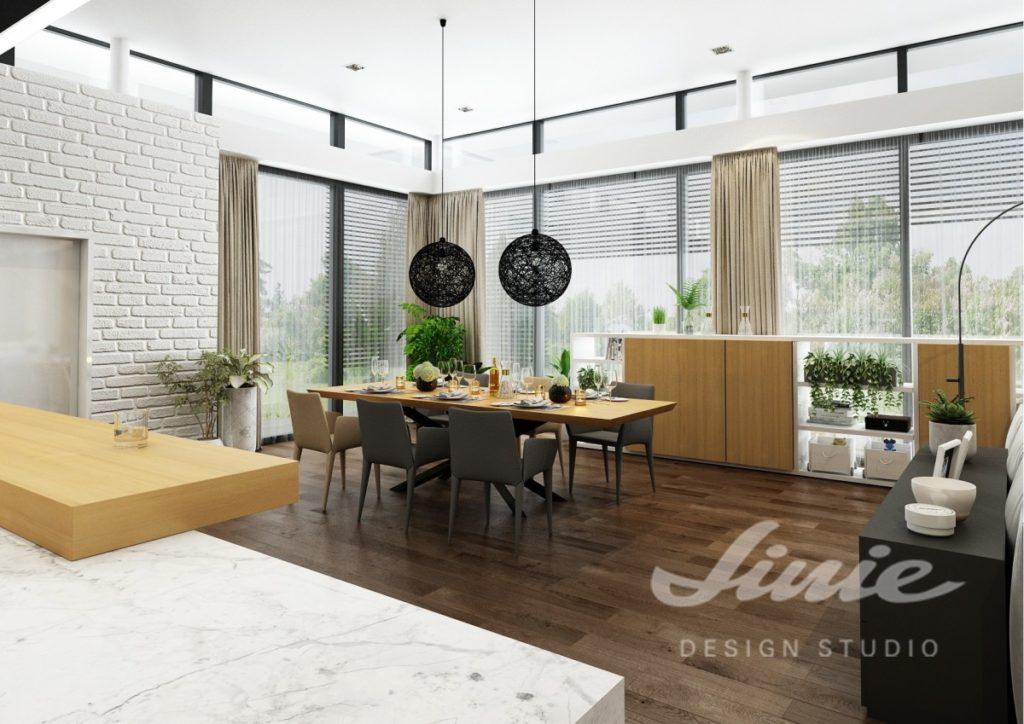 Inspirace pro kuchyně s podlahou z tmavého dřeva