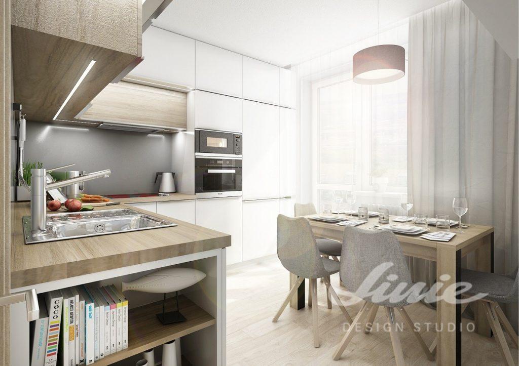 Inspirace pro kuchyně ve světlém provedení s šedými detaily