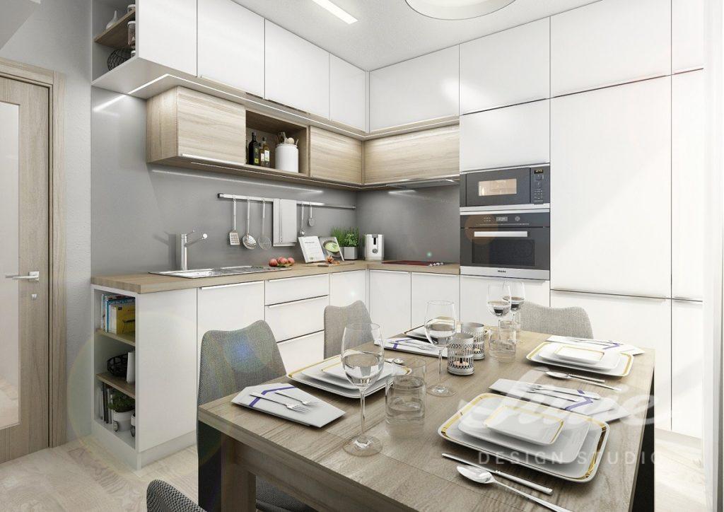 Inspirace pro kuchyně v bílo šedém provedení