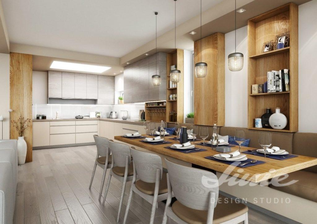 Inspirace pro kuchyně s moderním vzhledem s šedými prvky