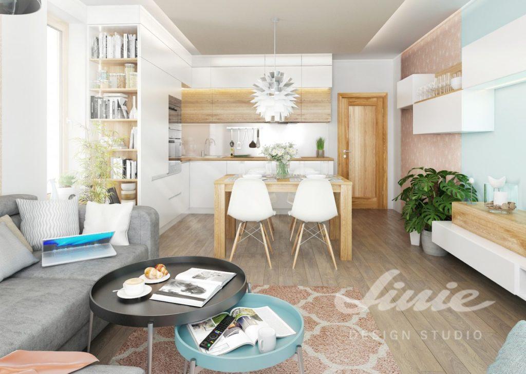 Inspirace pro kuchyně s pastelově růžovými a modrými detaily