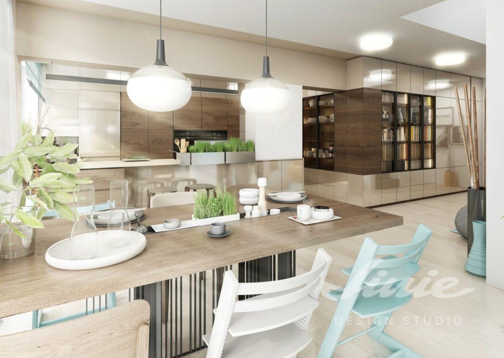 Inspirace pro kuchyně v přírodní barvě s tyrkysovými detaily