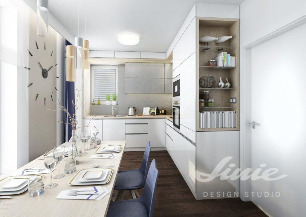 Inspirace pro kuchyni s tmavě modrými prvky