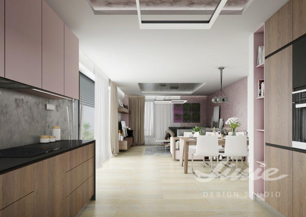 Inspirace pro kuchyni s pastelově růžovými detaily