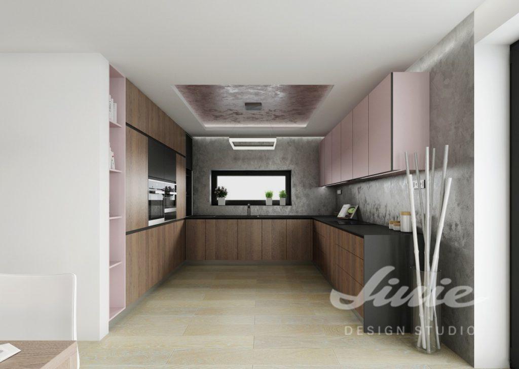 Inspirace pro kuchyni s pastelově růžovými prvky