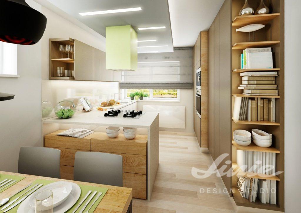 Inspirace pro kuchyni se světle zelenými prvky