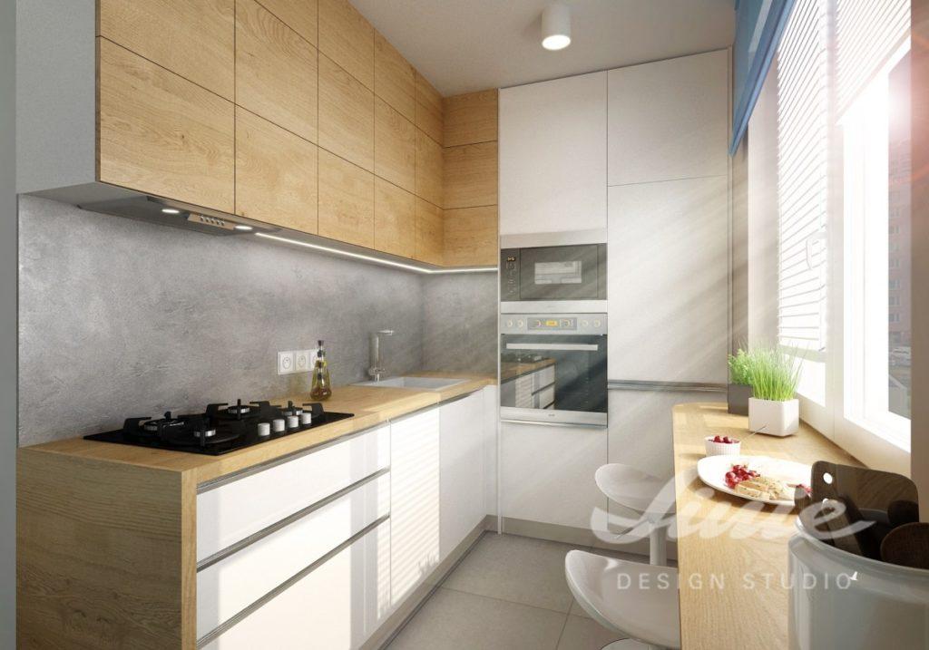 Inspirace pro malé kuchyně ve světlých odstínech
