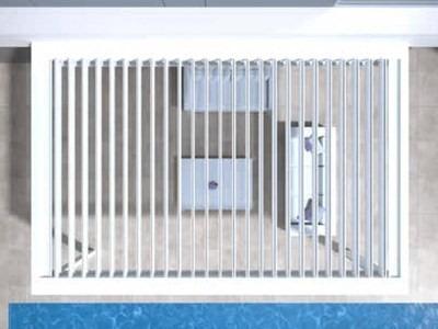 Pergola bílá u bazénu se stropním stíněním