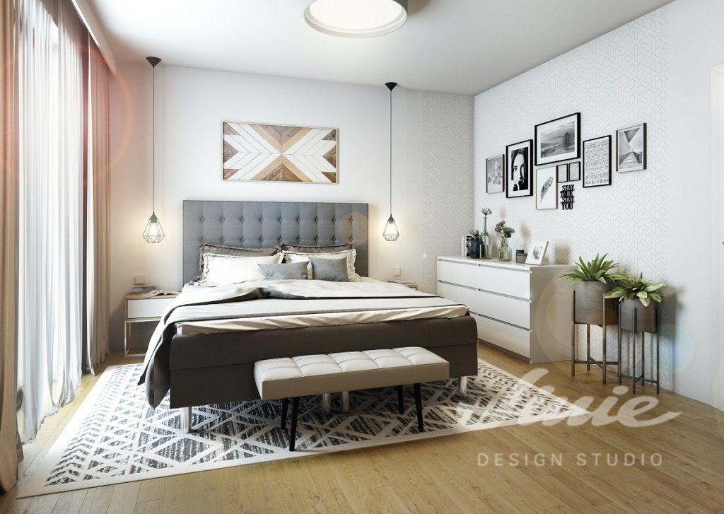 Inspirace pro ložnice zařízené v šedých odstínech