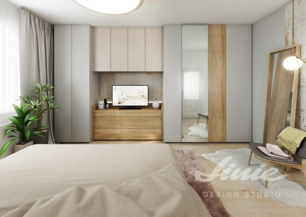 Inspirace pro ložnice zařízené v pudrových barvách