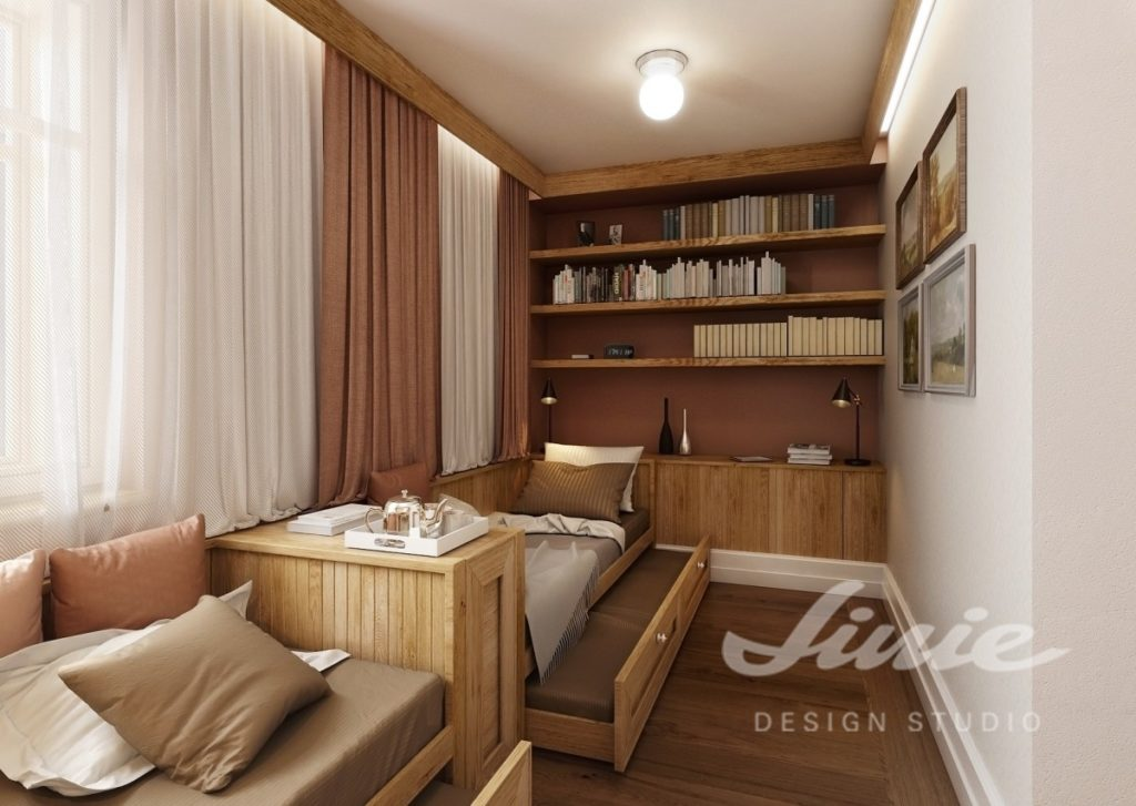 Inspirace pro ložnice v moderním stylu s teplými barvami